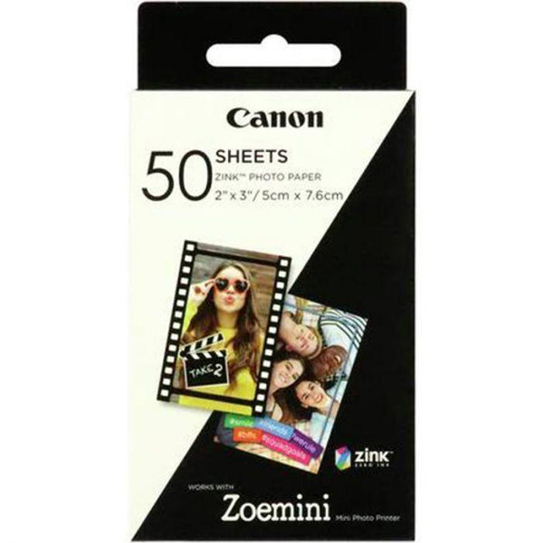 Canon ZoeMini Zink Photo Paper (50 Pack)  Cameratek