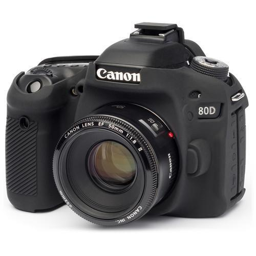 Easycover Silicon Case for Canon EOS 80D (Black)-Cameratek