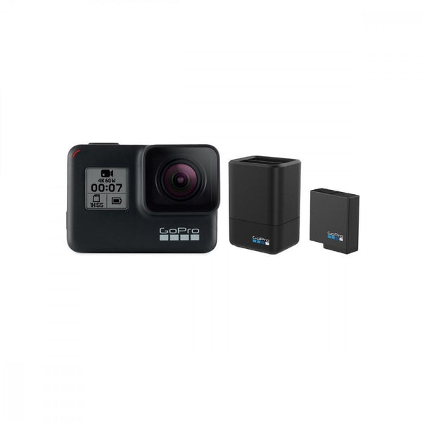 GoPro HERO7 Black With Free Extra Battery + Dual Charger-Cameratek
