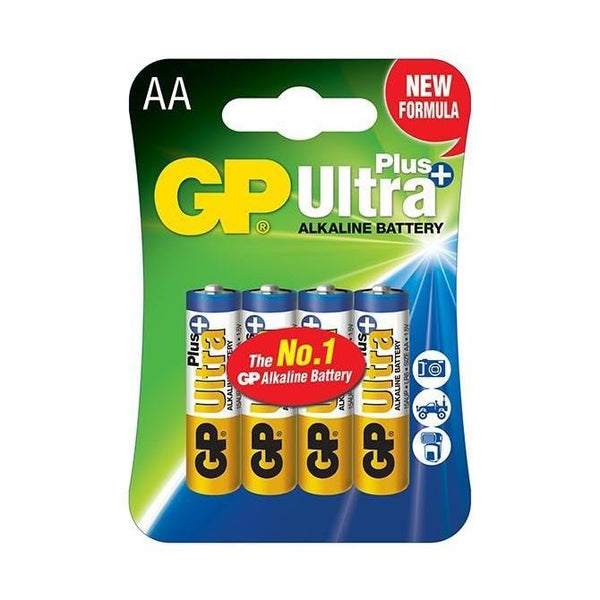 GP AA Ultra Plus Alkaline 4 Pack  Cameratek