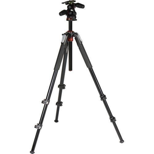 Manfrotto MK055XPRO3-3W Tripod Kit with 3-Way Head-Cameratek