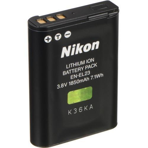 Nikon EN-EL23 Rechargeable Lithium-Ion Battery (3.8V, 1850mAh)-Cameratek