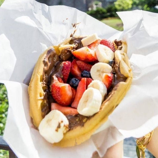 EXCITING NEW MENU ADDITION - Nutella & Fruit Waffle Taco