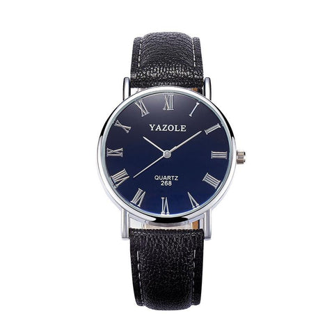 Grabitzone Luxury Blue Glass Watch