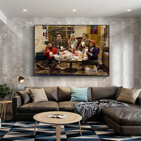 The Big Bang Theory Canva Wall Art