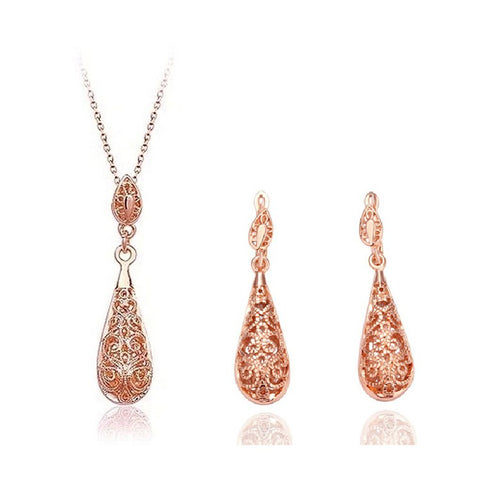 Gold color plated Jewelry set