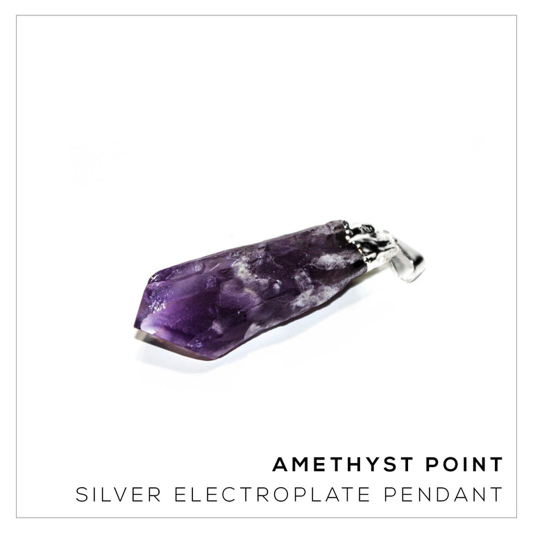 Amethyst Point Silver Large