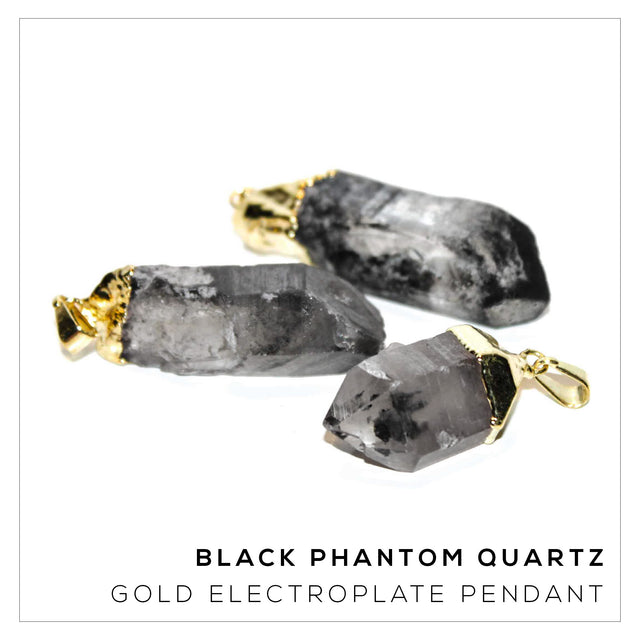 Black Phantom Quartz Pendant Variety