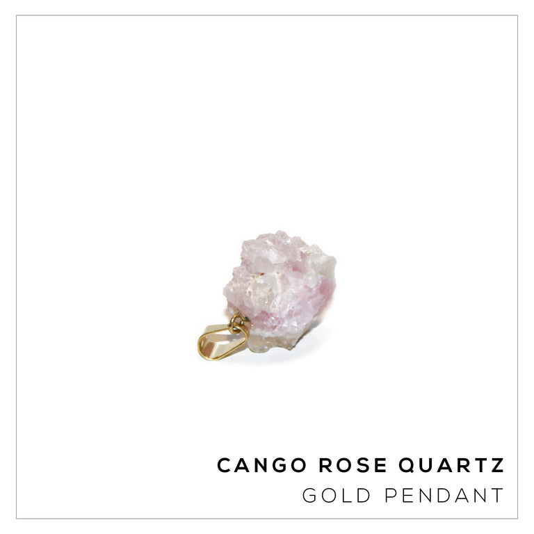 Canga Rose Quartz Pendant Small