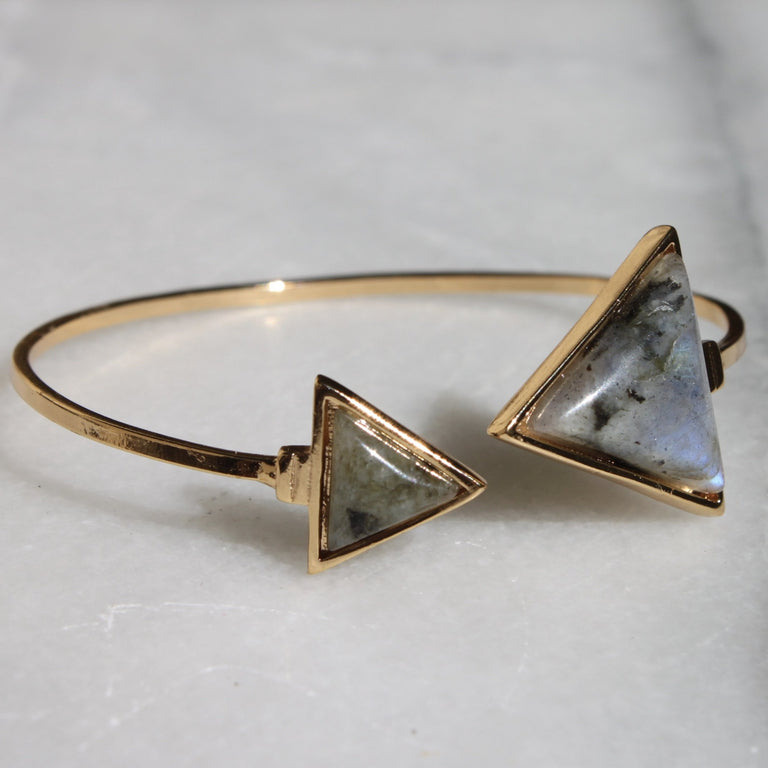 Labradorite Triangle Bangle