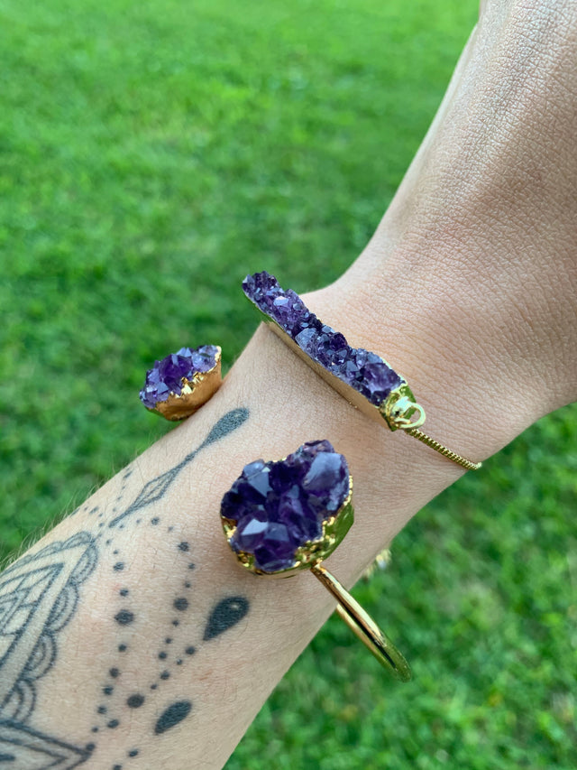 Amethyst Bangle Duo