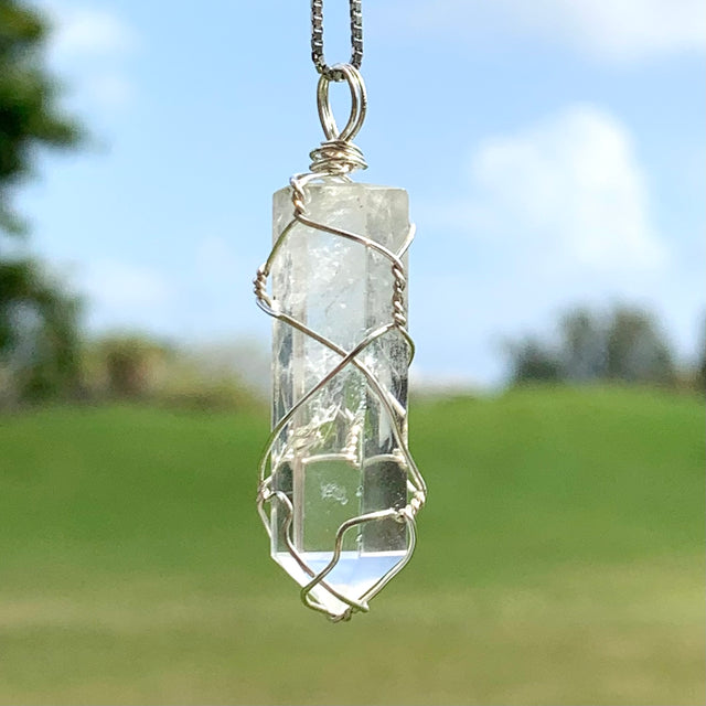 Clear Quartz Wire Wrapped Necklace