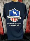 Blue Patriot Dog Training T-Shirt Short Sleeve