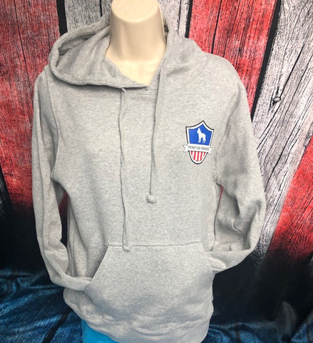 Heather Grey Patriot Dog Training Sweat Shirts