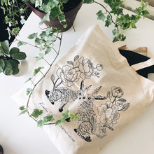 Load image into Gallery viewer, Recycled Illustrated Tote Bag
