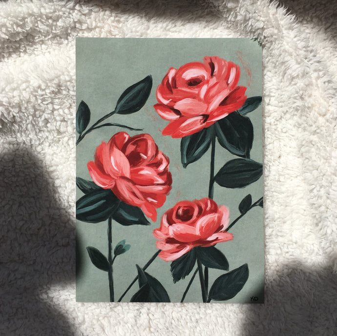LIMITED EDITION - Rose A5 Print