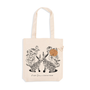 Recycled Illustrated Tote Bag