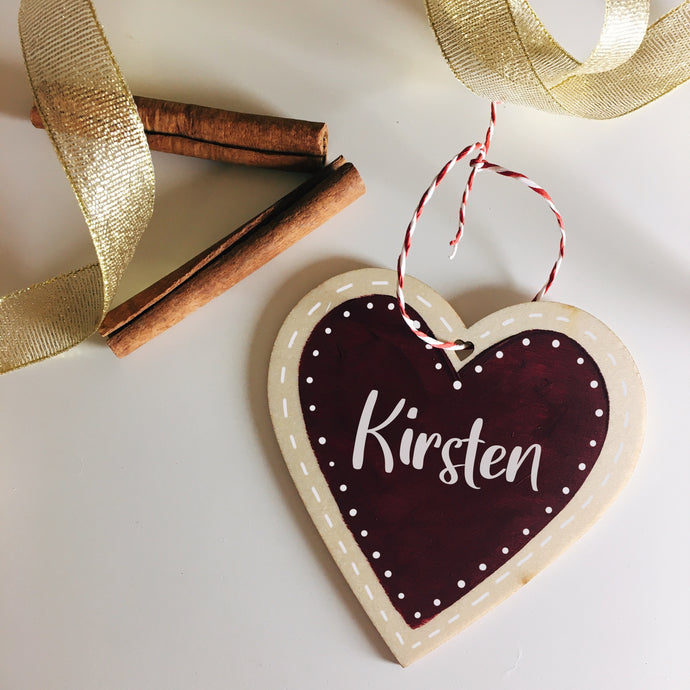 Large Personalised Wooden Ornament