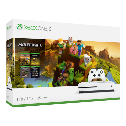 Xbox One S 1TB Minecraft Creators Bundle, White, 234-00655 - Area 399 Hachune Rage