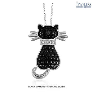 Cat Pendant Necklace in Gold or Silver Accent - Assorted Styles - Area 399 Hachune Rage