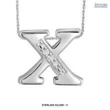 "Load image into Gallery viewer, ""Choose Your Letter Alphabet"" Custom Necklace in Sterling Silver - Assorted Finishes - Area 399 Hachune Rage"