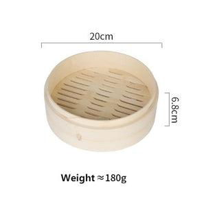 Yuho Asian Kitchen Bamboo Steamer 6-Inch Perfect for Steaming Food Support Healthy Lifestyle 100% Eco-friendly Product - Area 399 Hachune Rage