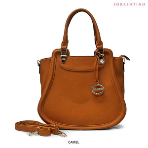 Sorrentino No. 735 Soft Vegan Leather Tote with Removable Strap - Assorted Colors - Area 399 Hachune Rage