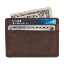 Load image into Gallery viewer, Genuine Leather RFID-Protecting Credit Card Holder - Area 399 Hachune Rage