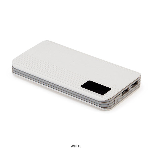 P8 10,000mAh White Portable Power Bank with Digital Display - Area 399 Hachune Rage