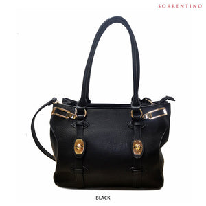 Sorrentino No. 776 Double-Compartment Handbag with Removable Strap - Assorted Colors - Area 399 Hachune Rage