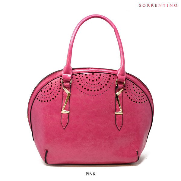 Sorrentino No. Z857 Sidney Satchel with Removable Strap - Assorted Colors - Area 399 Hachune Rage