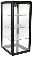 Load image into Gallery viewer, PROFESSIONAL DISPLAY CASE: Only Hangers Elegant Black Aluminum Table Top Tempered Glass Display Showcase with (3) Glass Shelves. Hinged Glass Door Includes Lock and Key - Area 399 Hachune Rage