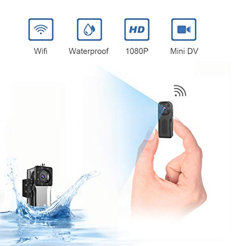 Waterproof Spy Camera Wireless Hidden,ZZCP Wifi Full HD 1080P Portable Mini Nanny Cam with Night Vision and Motion Detection, Perfect Covert Small Security Camera for Indoor and Outdoor - Area 399 Hachune Rage