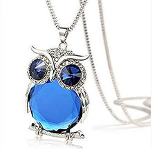 Load image into Gallery viewer, Blue Crystal Owl Shape Long Necklace (Video too!) - Area 399 Hachune Rage