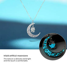 Load image into Gallery viewer, Onairmall Onairmall Luminous Series Owl Moon Necklace Fluorescent Necklace,Glow in the Dark (Blue) - Area 399 Hachune Rage