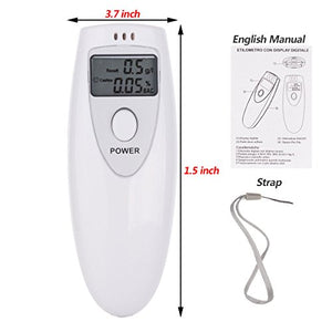 ALCOHOL TESTER BREATHALYZER: Portable LCD Screen Digital Professional Breath Alcohol Tester Analyzer Breathalyzer Detector for Home Use - Area 399 Hachune Rage