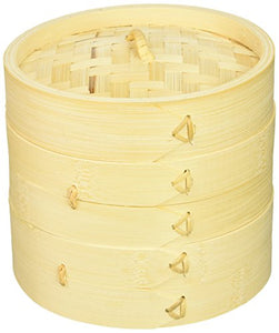 "Town Food Service 34206 6"" Bamboo Steamer Set - Area 399 Hachune Rage"