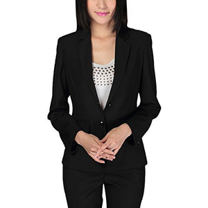 Women's 2 Piece Slim Fit Suits Set for Business Office Lady Blazer Jacket Pants - Area 399 Hachune Rage