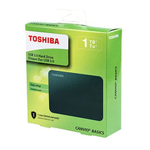 Load image into Gallery viewer, Toshiba HDTB410XK3AA Canvio Basics 1TB Portable External Hard Drive USB 3.0, Black - Area 399 Hachune Rage