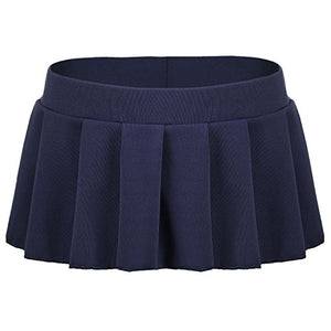 Avidlove Women Sexy Role Play Pleated Mini Skirt Ruffle Lingerie for Schoolgirl Dark Blue - Area 399 Hachune Rage