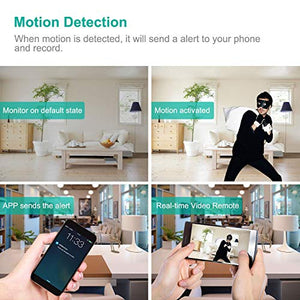 Spy Camera 1080P WiFi, Hidden Cameras Clock Video Recorder Wide Angle Lens Wireless IP Camera for Indoor Home Security Monitoring Nanny Cam with Night Vision Motion Detection - Area 399 Hachune Rage