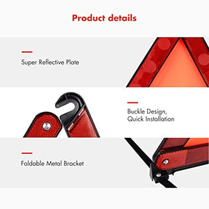 MYSBIKER Emergency Safety Warning Triangle,3 Pack Foldable Warning Triangle Emergency Reflector Safety Triangle Kit,Car Roadside Hazard Sign Triangle Symbol for Emergency with Individual Storage Case - Area 399 Hachune Rage
