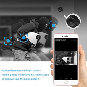 Mini WIFI Camera, Ansteker Wireless Hidden Portable Camera 1080P Small Home Security Nanny Cam with Night Vision and Motion Detection - Area 399 Hachune Rage