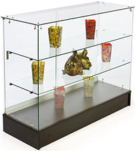 Load image into Gallery viewer, PROFESSIONAL DISPLAY CASE: Free-Standing Tempered Glass Display Case, 48 x 38 x 18-1/4-Inch, Black Melamine Base With Sliding Doors - Area 399 Hachune Rage