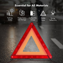 Load image into Gallery viewer, MYSBIKER Emergency Safety Warning Triangle,3 Pack Foldable Warning Triangle Emergency Reflector Safety Triangle Kit,Car Roadside Hazard Sign Triangle Symbol for Emergency with Individual Storage Case - Area 399 Hachune Rage