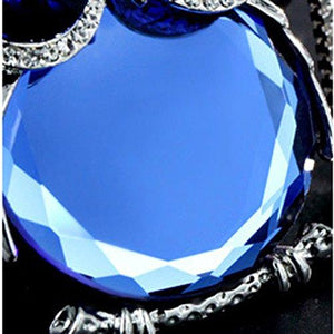 Blue Crystal Owl Shape Long Necklace (Video too!) - Area 399 Hachune Rage