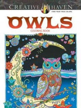 Load image into Gallery viewer, Creative Haven Owls Coloring Book (Adult Coloring) - Area 399 Hachune Rage