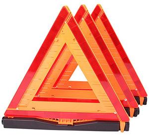 CARTMAN Warning Triangle DOT Approved 3PK, Identical to: United States FMVSS 571.125, Reflective Warning Road Safety Triangle Kit - Area 399 Hachune Rage