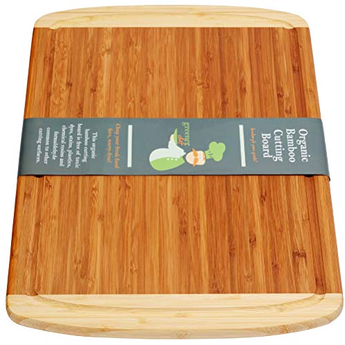 Extra Large Bamboo Cutting Board - Best Wooden Cutting Boards for Kitchen, Wood Cutting Board, Butcher Block Cutting Board, Chopping Board, Chopping Block and Carving Board - LIFETIME REPLACEMENTS - Area 399 Hachune Rage