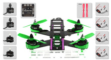 Load image into Gallery viewer, FASTTECH Little Bee FPV Race Quadcopter DIY Kit Green 180mm - Area 399 Hachune Rage
